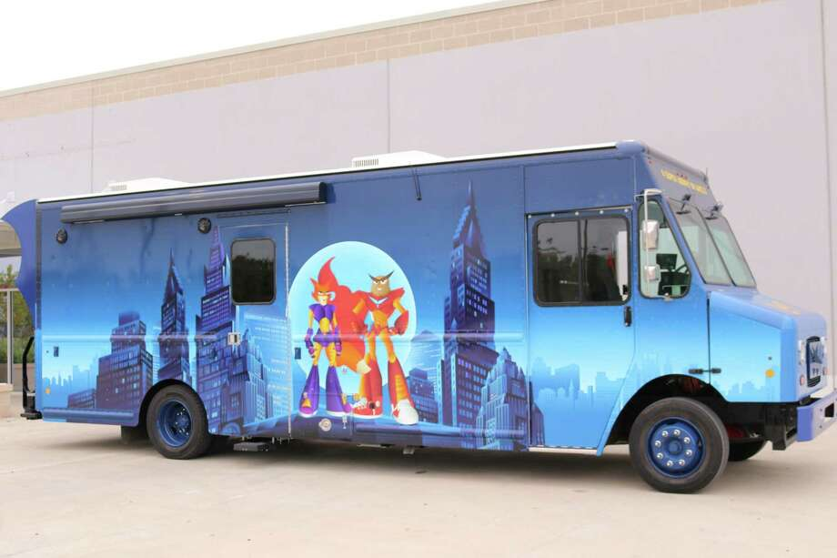 Pictured is the Curiosity Cruiser, which will be making a stop at the Crosby Edith Fae Cook Cole Library Branch on Feb. 7. Photo: Courtesy