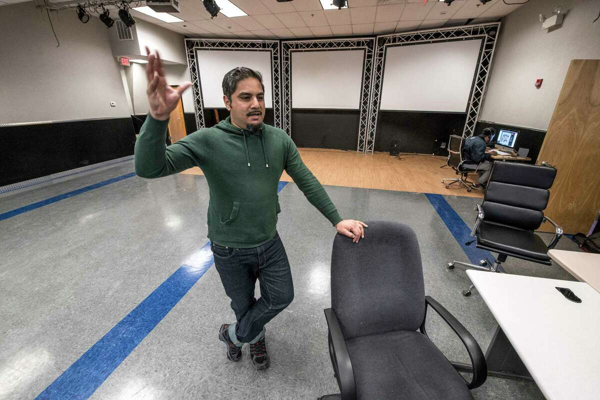 Bhawin Suchak shows of the new Youth FX headquarters at 25 Warren Street Wednesday, Jan 24, 2018 in Albany, (Skip Dickstein/Times Union)
