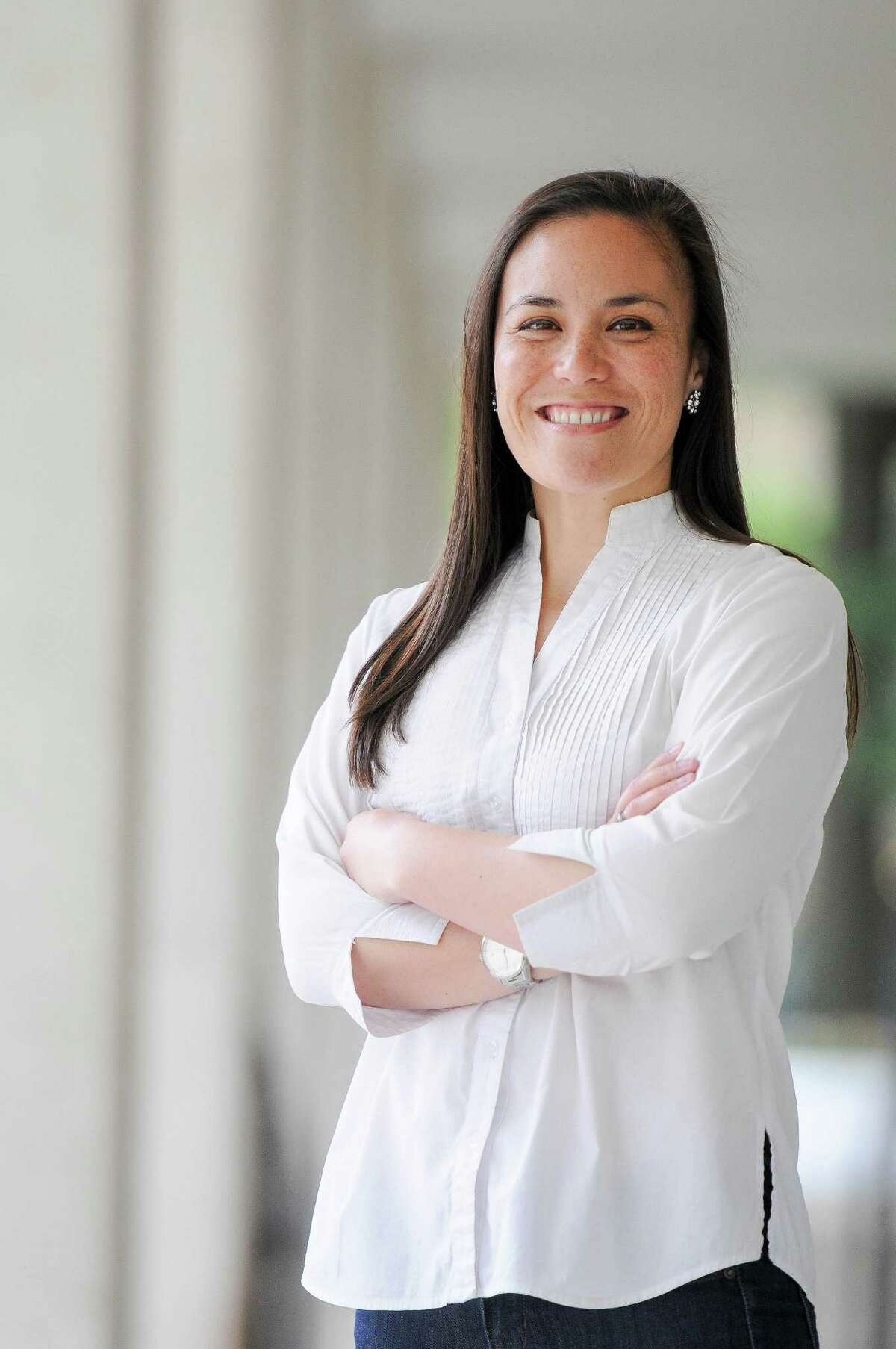U.S. Air Force veteran and national security expert Gina Ortiz Jones, who is from San Antonio, is challenging Congressman Will Hurd for Texas' 23rd Congressional District. She is a Democrat.