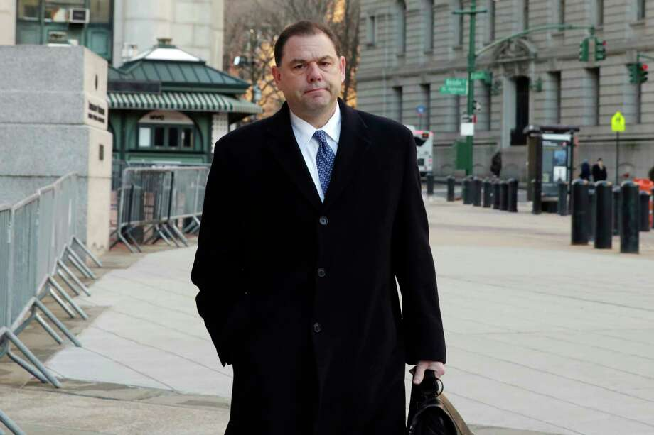 Joseph Percoco arrives at Federal Court, in New York, Thursday, Jan. 25, 2018. Percoco is on trial on charges that he accepted over $300,000 in bribes, most of it in the form of a job for his wife, in return for help he provided three businessmen who are co-defendants with him. (AP Photo/Richard Drew) Photo: Richard Drew / AP