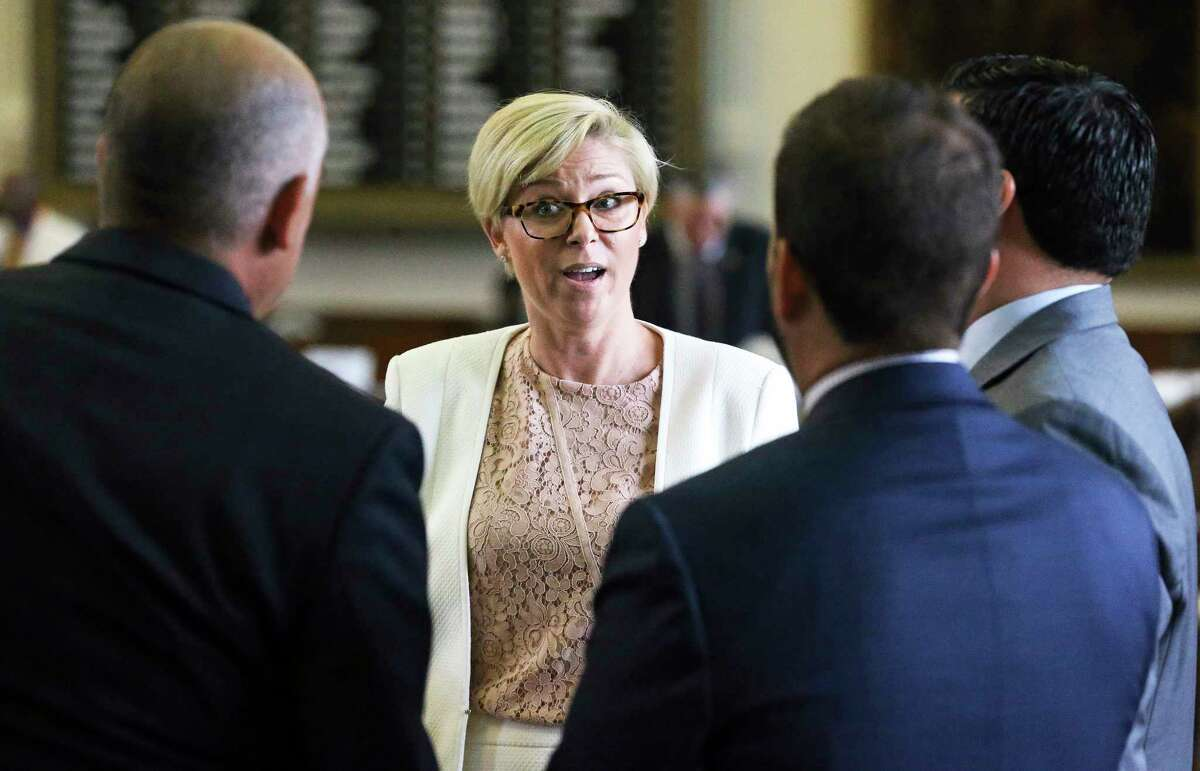 Rep. Sarah Davis, R-Houston, debates on the floor at the Capitol during the special session on August 3, 2017. Texans for Vaccine Choice are targeting her in this year's Mar. 6 Republican primary election in hope of replacing her with Susanna Dokupil, a business woman who promises to align more closely with Gov. Greg Abbott's agenda.