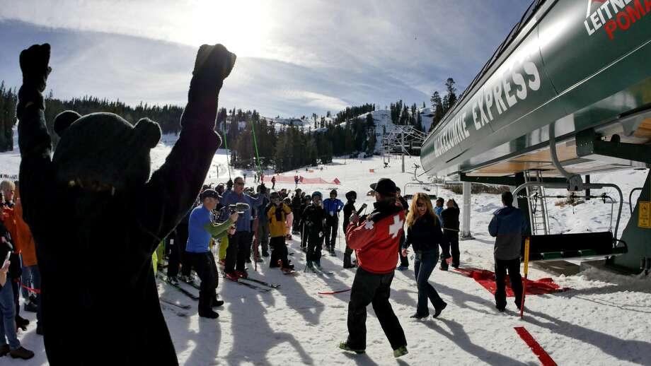 The new Moke Esxpress chairlift at Bear Valley, January 2018  Photo: Bear Valley Ski Resort