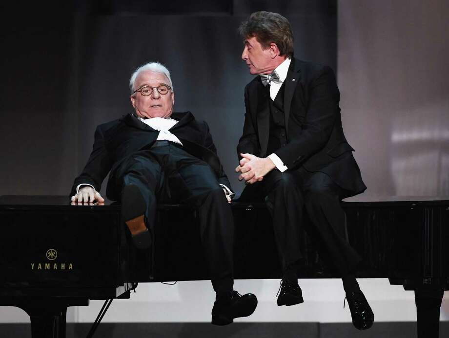 Steve Martin, left, and Martin Short perform during the American Film Institute's Life Achievement Award Gala Tribute to Diane Keaton in June. They bring their comedy tour to Hartford on Feb. 17. Photo: Kevin Winter / Getty Images / 2017 Getty Images