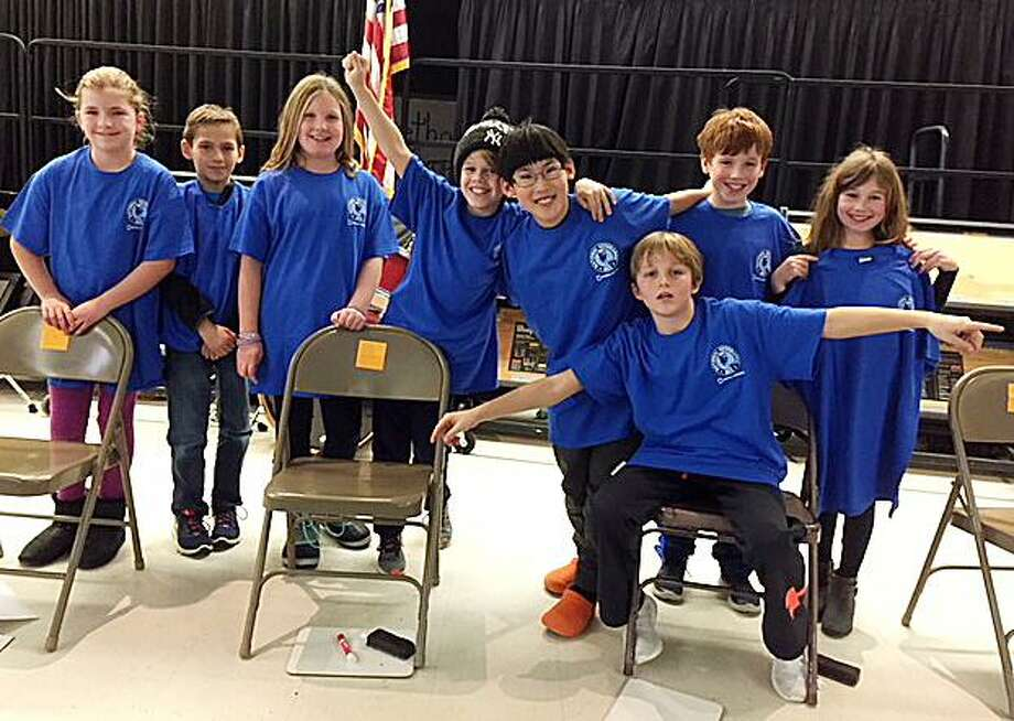 Ox Ridge School recently conducted a Geography Bee for fourth- and fifth-grade students. Photo: Contributed Photo