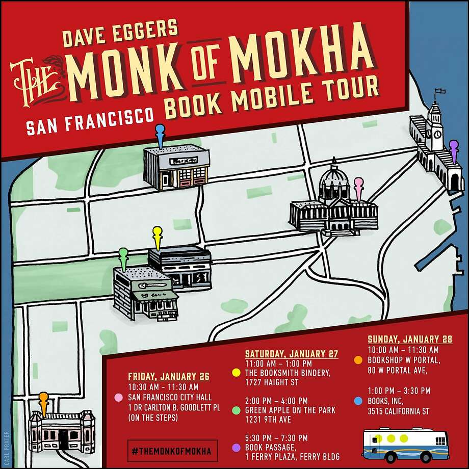 "Dave Eggers and Mokhtar Alkhanshali will tour five bookstores. Photo: ""The Monk Of Mokha"""