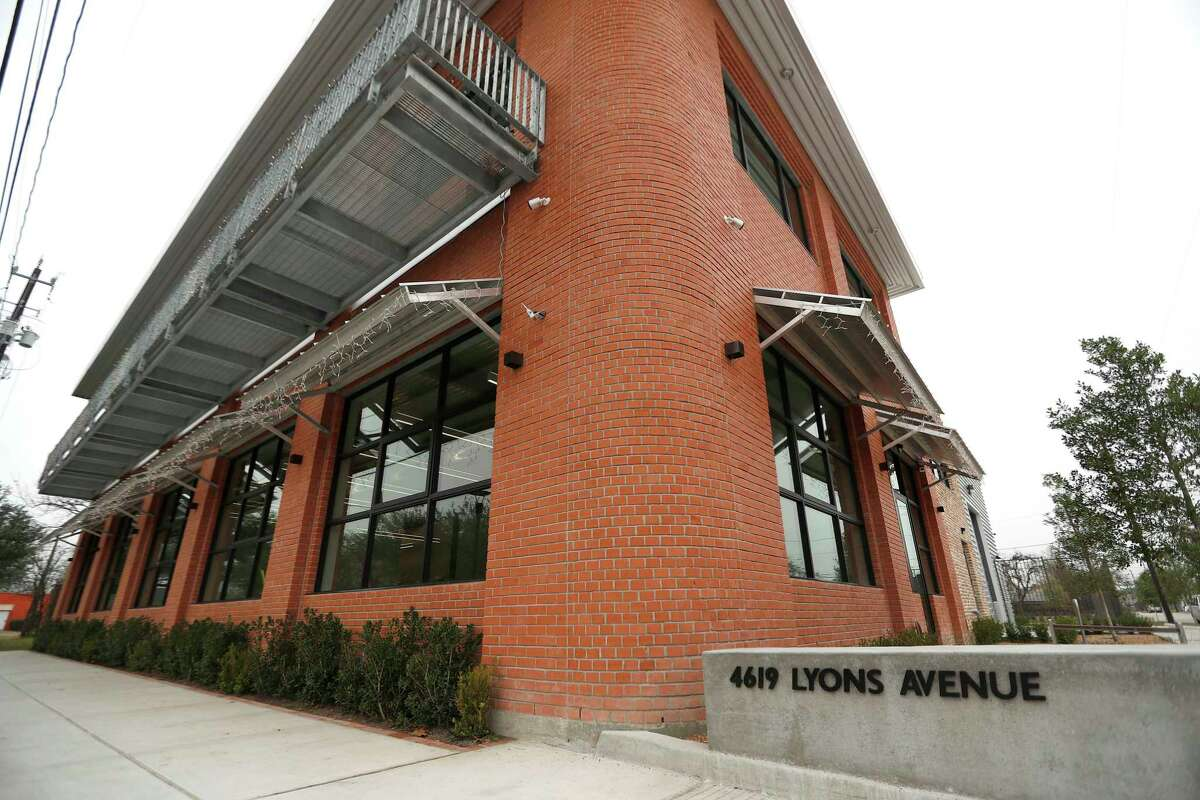 Exterior of the Parra Design Group's new buiding at 4619 Lyons Avenue, Tuesday, Jan. 9, 2018, in Houston. Parra Design Group, a 20-year old architectural firm, has opened their headquarters in Houston's Fifth Ward. The new two-story building offers its neighbors open space on the first-floor level for meetings and other activities. The building's presence contributes to the redevelopment of Lyons Avenue and adds to vibrancy of the Fifth Ward. ( Karen Warren / Houston Chronicle )