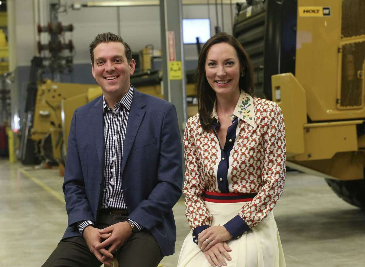 Holt Cat CEO and General Manager Peter J. Holt and his sister, President and Chief Administrative Officer Corinna Holt Richter sit for an interview at their headquarters Thursday, Jan. 11, 2018. They took over the company at the start of the year.
