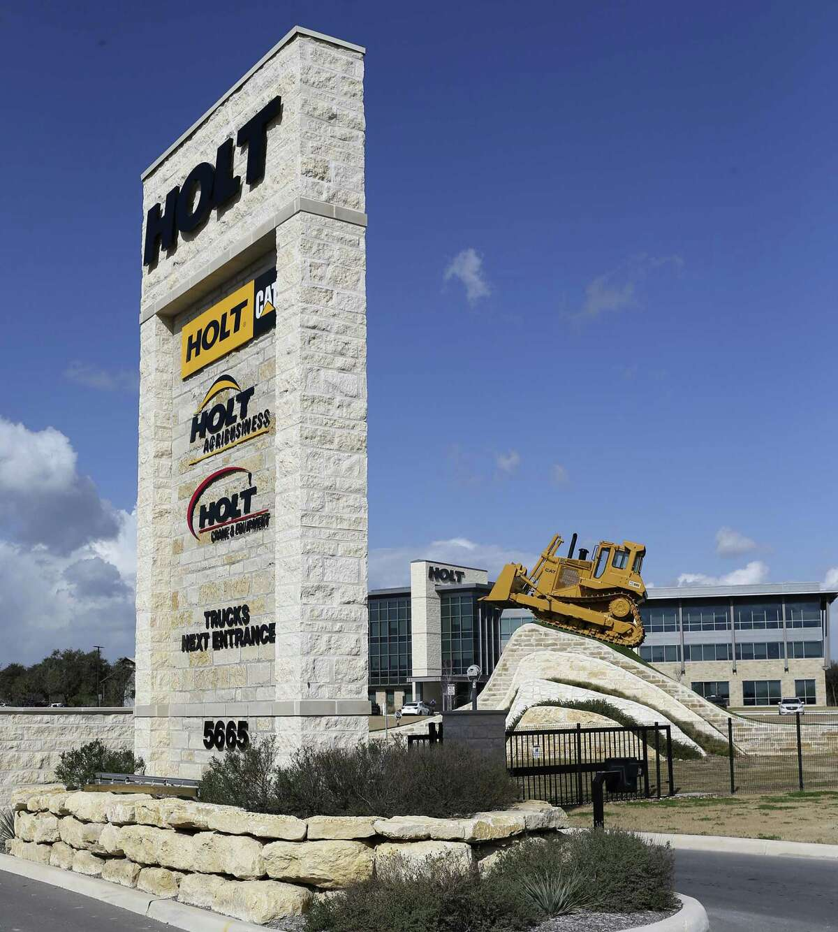 Holt Cat's San Antonio headquarters. The company has the largest Caterpillar dealership group in the U.S. and saw business start to pick up in the second half of 2017.