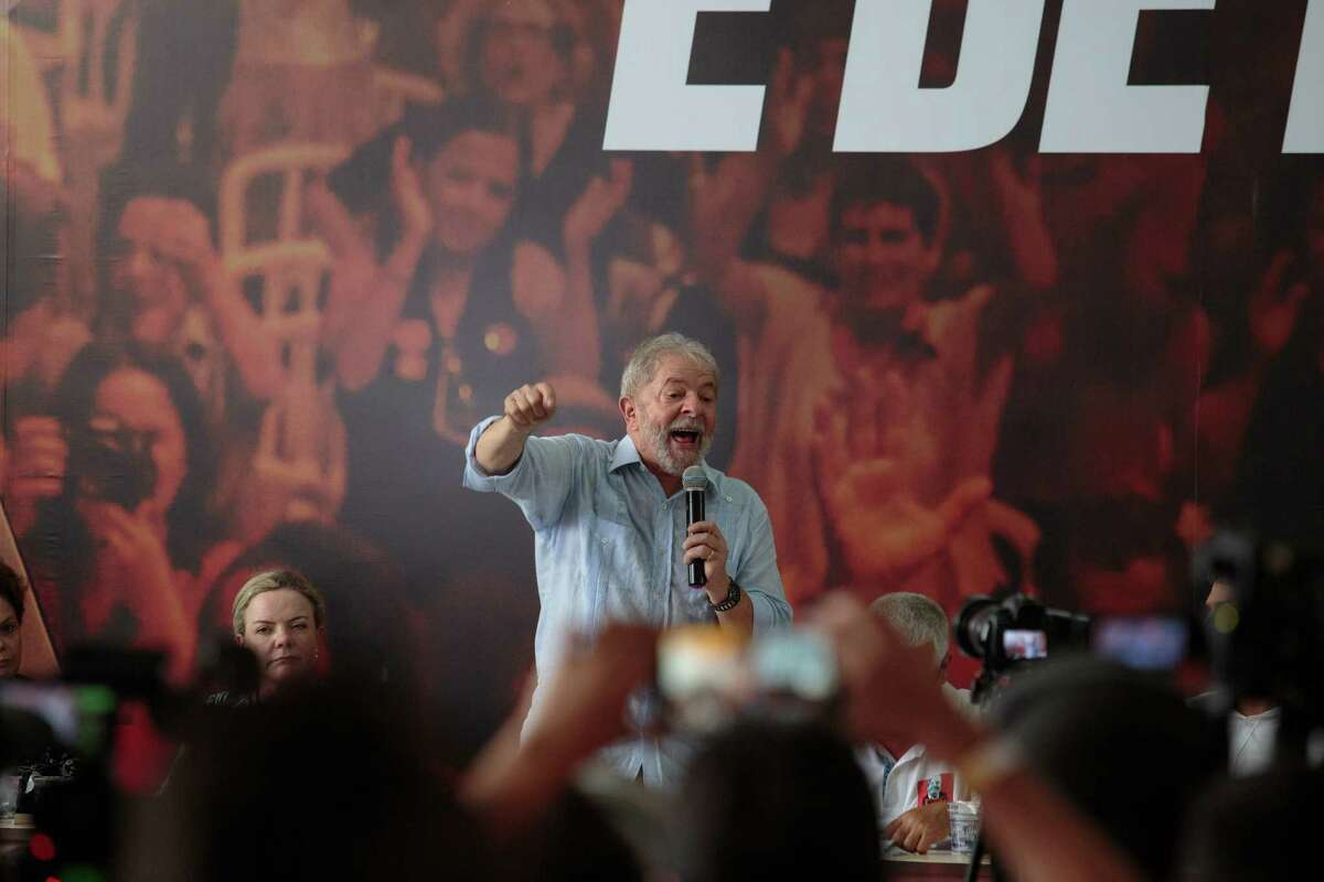 Luiz Ina'cio Lula da Silva, Brazil's former president, was barred from leaving Brazil on Thursday after a judge upheld corruption charges against him.
