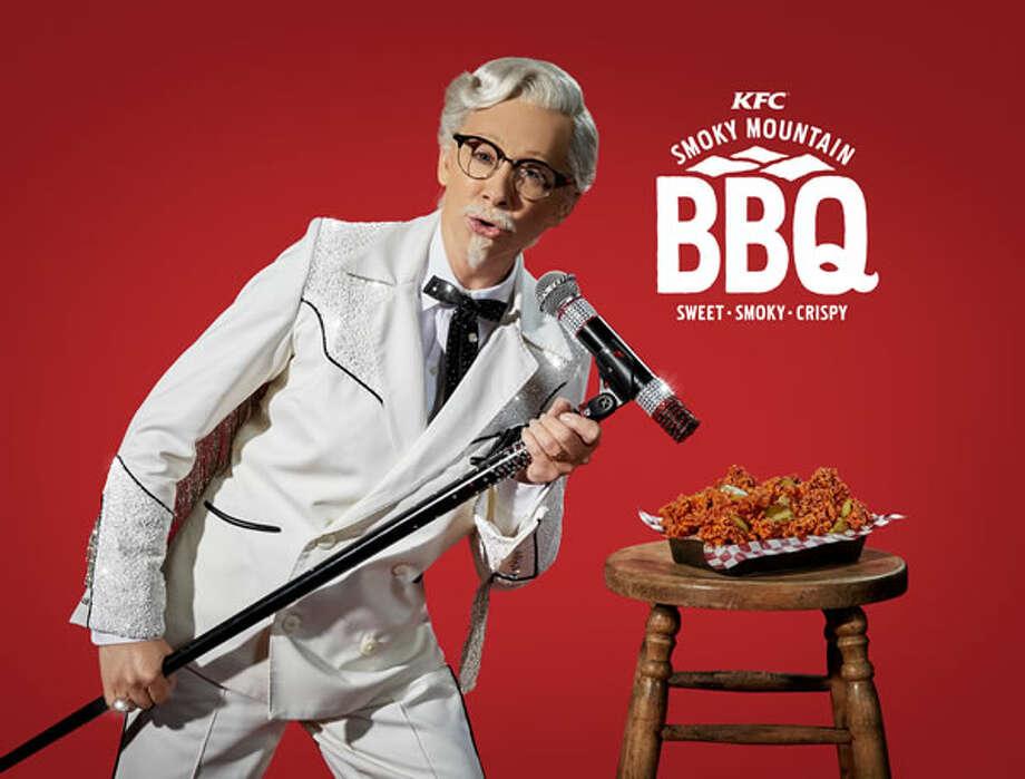 RebaMcEntire as KFC's Colonel Sanders. Photo: KFC