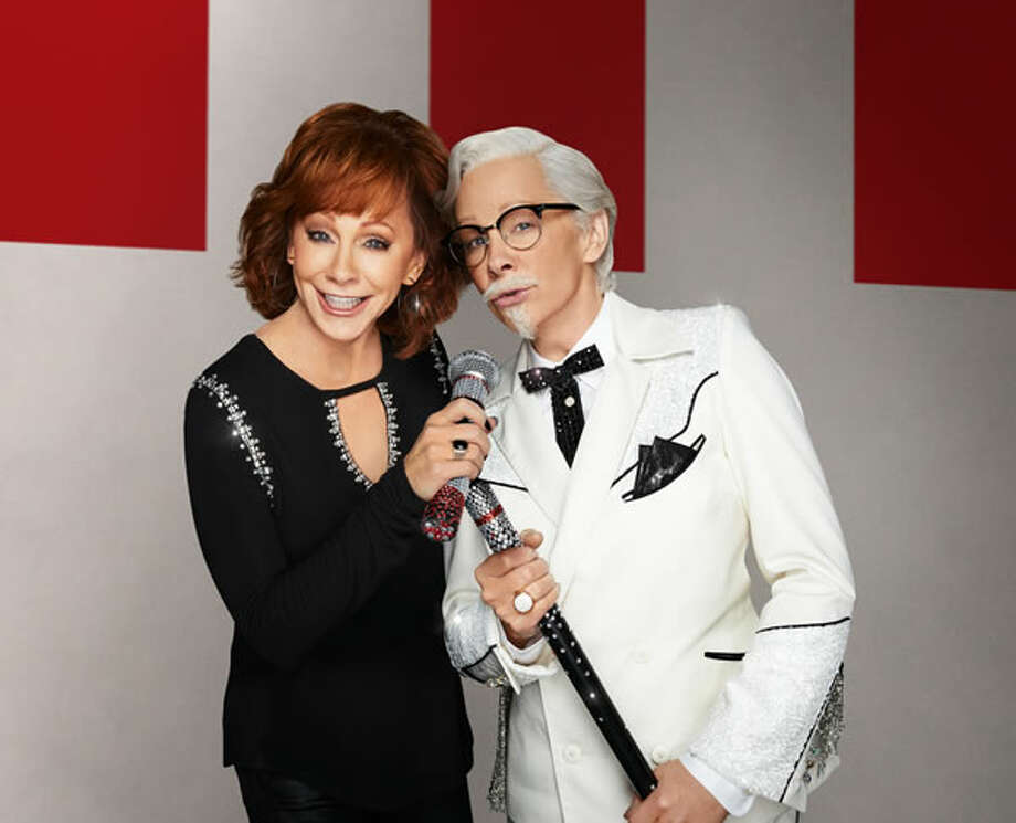 Reba McEntire as herself and as KFC's Colonel Sanders. Photo: KFC