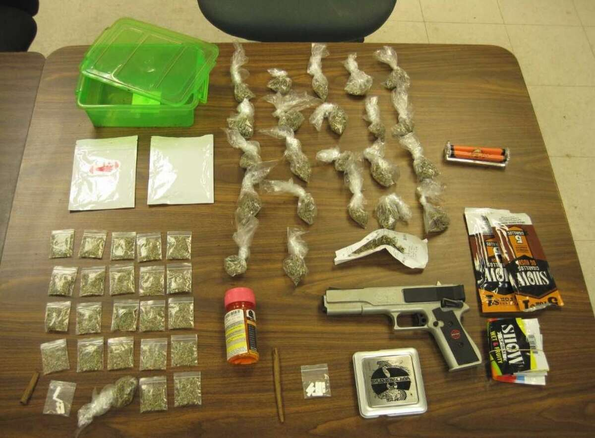 Items confiscated following an arrest by Vidor police January 25, 2018. Photo: VPD
