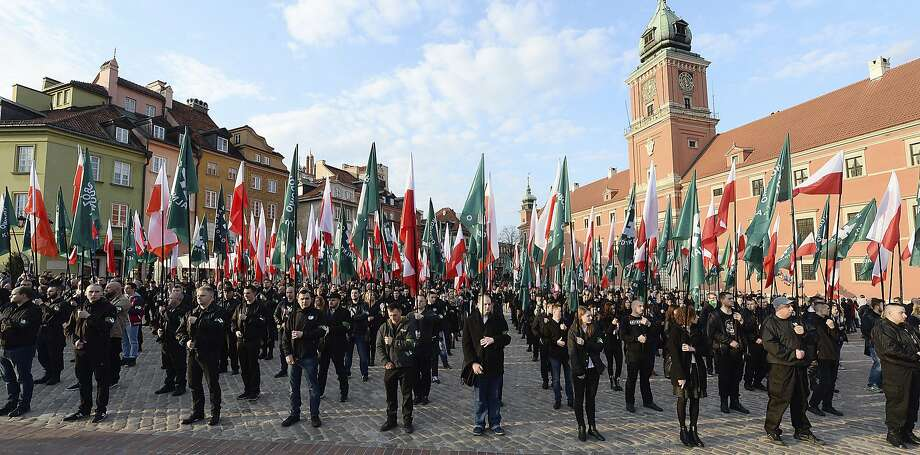 Far-right groups like the National-Radical Camp have held rallies like this one last year in Warsaw. Photo: Czarek Sokolowski, Associated Press