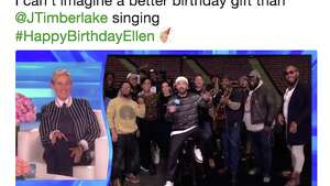 Celebrities celebrate Ellen Degeneres' 60th birthday.