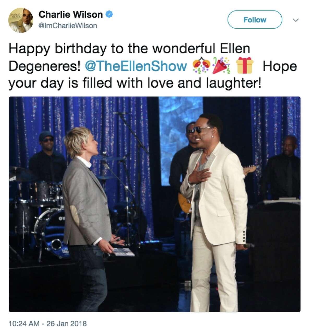 Celebrities celebrate Ellen DeGeneres' 60th birthday.
