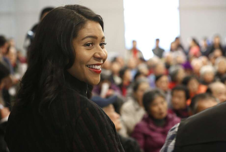 San Francisco's acting Mayor London Breed announced her intentions to endorse a plan to rename Portsmouth Square Plaza in Chinatown after Mayor Ed Lee, during a Portsmouth Square Plaza community meeting, on Thursday, Jan. 11, 2018 in San Francisco, California. Photo: Michael Macor, The Chronicle