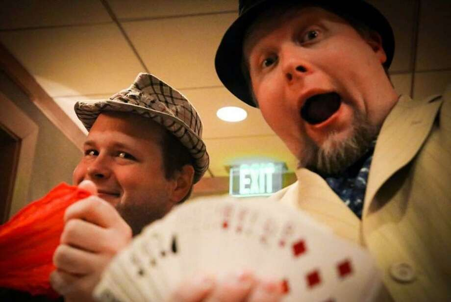 Presto Pete & Incredulous Chris perform at the Palace Theatre in Stamford on Feb. 4. Photo: Pete And Chris Amusements / Contributed Photo