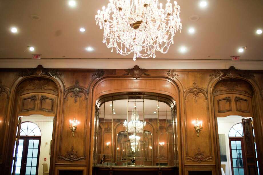 The 300-year old paneling and other elements of Le Grand Salon at La Colombe d'Or will be removed before the 20-year old addition to the hotel is demolished. Hines' forthcoming Residences at La Colombe d'Or will soon rise on the site. ( Marie D. De Jesus / Houston Chronicle ) Photo: Marie D. De Jesus, Houston Chronicle / © 2018 Houston Chronicle