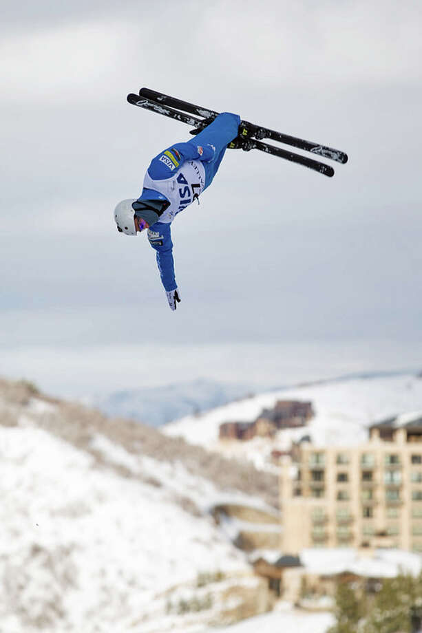 Mac Bohonnon in the aerials qualifications, Visa Freestyle International World Cup. Photo: Contributed Photo / New Haven Register contributed