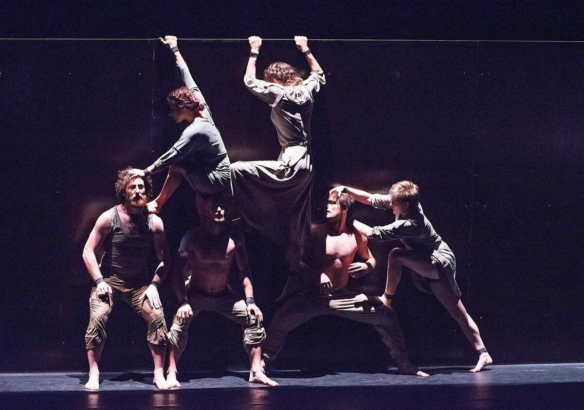 Members of the Australian performance group Circa in the Monteverdi-inspired