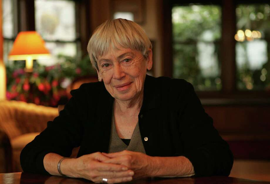 Ursula K. Le Guin at her home in Portland, Ore., in 2005. Photo: Getty Images, Contributor / 2006 Dan Tuffs