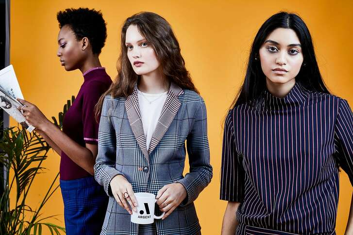 """An image from Argent's fall 2017 collection.�Sali Christeson and Eleanor Turner founded the suiting line in June 2016 with a mission of making """"smarter work apparel."""" Hillary Clinton and Huma Abedin are fans of the brand."""
