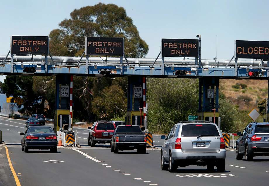 The Richmond San Rafael Bridge had three FasTrak dedicated lanes Wednesday July 30, 2014. Cameras at some Bay Area bridges are failing to accurately record license plates including the Richmond San Rafael Bridge. Photo: Brant Ward, San Francisco Chronicle