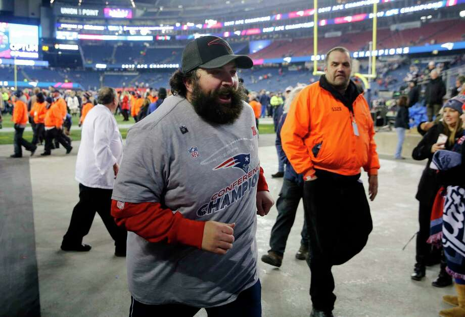 New England Patriots defensive coordinator Matt Patricia leaves the field after winning the AFC championship NFL football game against the Jacksonville Jaguars, Sunday, Jan. 21, 2018, in Foxborough, Mass. The Patriots won 24-20. (AP Photo/Winslow Townson) Photo: Winslow Townson, FRE / FR170221 AP