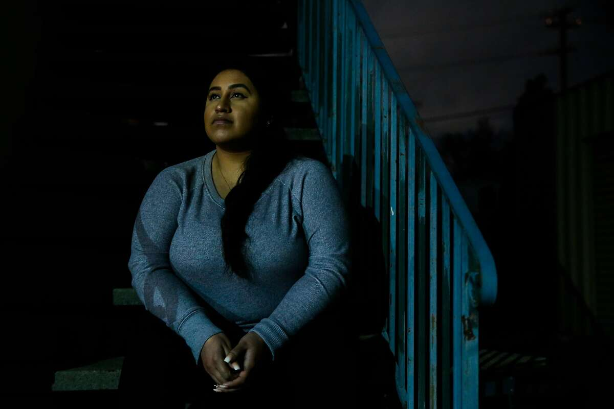 Ana Rodriguez, 26, poses for a portrait outside her work in Hayward, Calif., on Wednesday, Jan. 10, 2018.