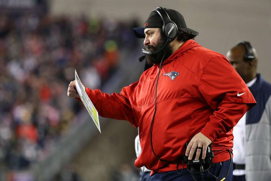 Patriots defensive coordinator Matt Patricia is rumored to become the new head coach of the Lions after the Super Bowl. Photo: Maddie Meyer, Getty Images