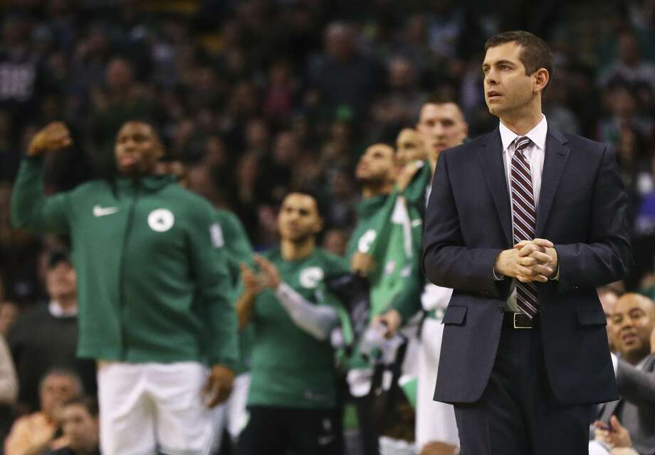 Brad Stevens has led the Celtics to the the top of the Eastern Conference, and to a win over the Warriors in Boston earlier this season. Boston visits Oracle Arena on Saturday. Photo: Maddie Meyer / Getty Images / 2018 Getty Images