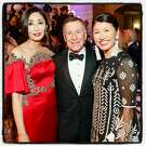 Yurie Pascarella and her husband, SF Ballet Board chairman Carl Pascarella (at left) with ballet trustee Akiko Yamasaki at 85th opening-night gala. Jan. 18, 2018