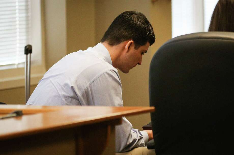 Kingwood resident Garrett Nee, who faces two counts of evading arrest causing death, and two counts of evading arrest causing serious bodily injury, stands trial on Monday, Jan. 22, 2018, at Judge Phil Grant's 9th District Court in Conroe. Photo: Michael Minasi, Staff Photographer / © 2017 Houston Chronicle