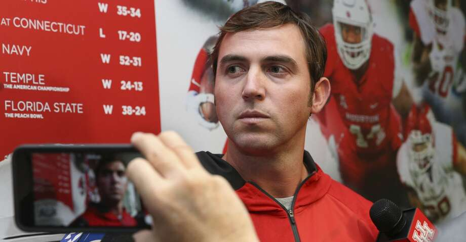 New University of Houston football team assistant coach, and former Baylor assistant coach, Kendal Briles speaks to the press for the first time on Friday, Jan. 26, 2018, in Houston. ( Yi-Chin Lee / Houston Chronicle ) Photo: Yi-Chin Lee/Houston Chronicle