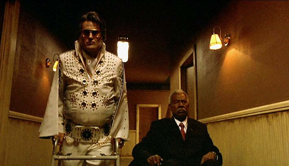 "Bruce Campbell as Elvis Presley and Ossie Davis as John F. Kennedy battle an ancient mummy in Don Coscarelli's ""Bubba Ho-Tep"" (2002). Photo: IndieFest"