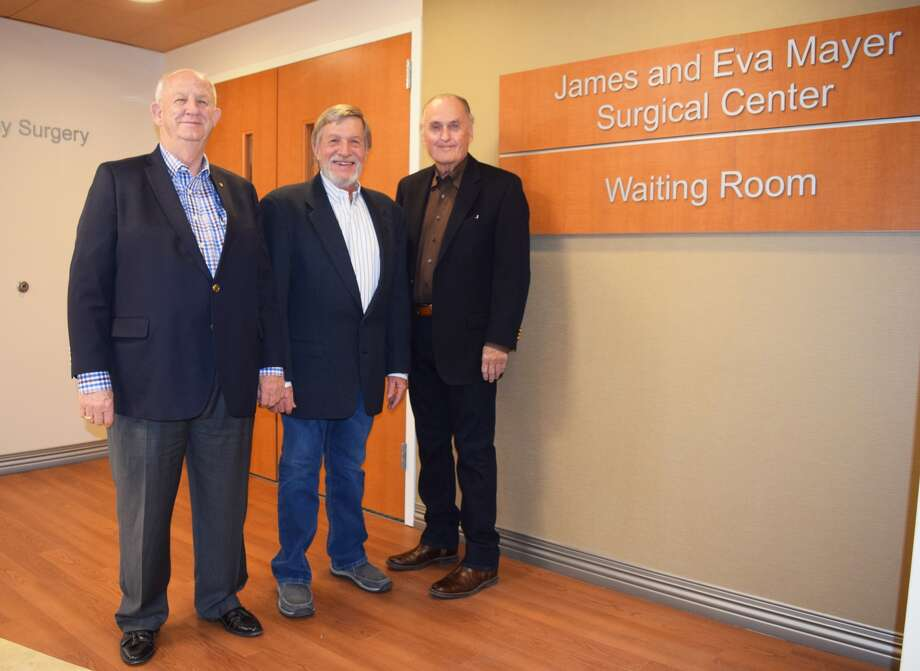 Entrusted with preserving the legacy of James and Eva Mayer, David Wilder, Rudd Owen and Paul Lyle keep the spirit of the couple alive with the James and Eva Mayer Foundation. As trustees, Wilder, Owen and Lyle helped to kick start Covenant Health Plainview's Capital Campaign as well as the construction of the new surgical center named after James and Eva Mayer. The grand-opening and community blessing of the James and Eva Mayer Surgical Center will be held at 2:30 p.m. Jan. 28 at the hospital.