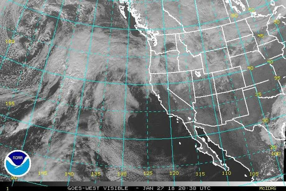 The satellite image of visible weather at 12:30 p.m. Saturday, Jan. 27, 2018.