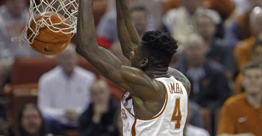Texas center Mohamed Bamba dunks during the second half of an NCAA college basketball game against Mississippi, Saturday, Jan. 27, 2018, in Austin, Texas. (AP Photo/Michael Thomas) Photo: Michael Thomas/Associated Press