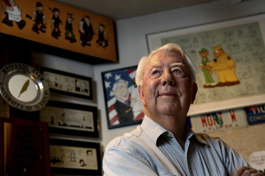 FILE - In this Aug. 16, 2010 file photo, Mort Walker, the artist and author of the Beetle Bailey comic strip, stands in his studio in Stamford, Conn. On Saturday, Jan. 27, 2018, a family member said the comic strip artist has died. He was 94. (AP Photo/Craig Ruttle) Photo: Craig Ruttle, Associated Press
