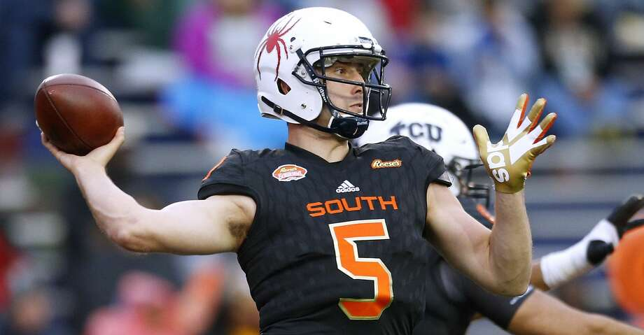 MOBILE, AL - JANUARY 27: Kyle Lauletta #5 of the South team throws the ball during the second half of the Reese's Senior Bowl against the the North team at Ladd-Peebles Stadium on January 27, 2018 in Mobile, Alabama.  (Photo by Jonathan Bachman/Getty Images) Photo: Jonathan Bachman/Getty Images