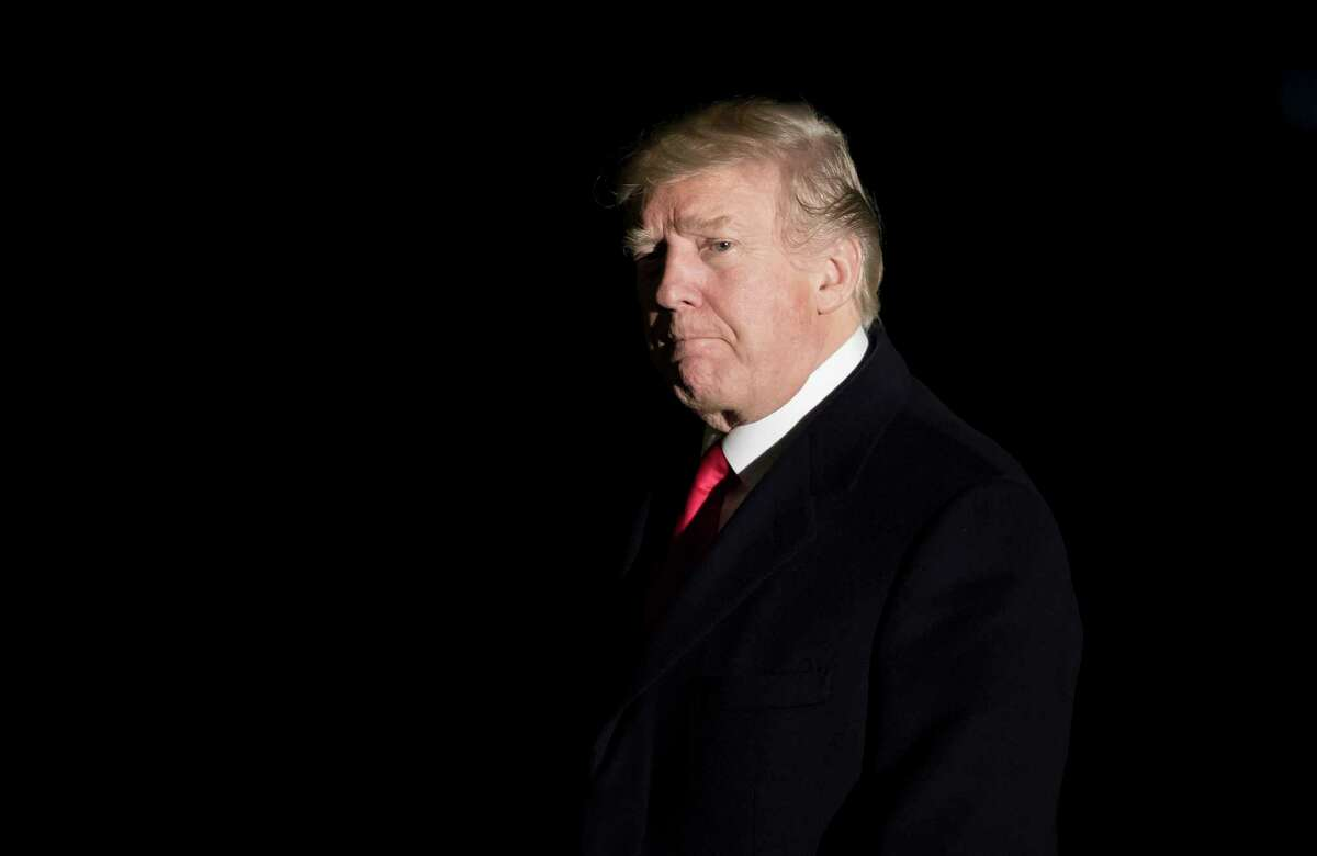 President Donald Trump arrives back at the White House in Washington, Jan. 26, 2018. Trump plans an optimistic State of the Union address promoting priorities like overhauls of infrastructure and immigration, but there are no guarantees when the president faces a television camera. (Eric Thayer/The New York Times)