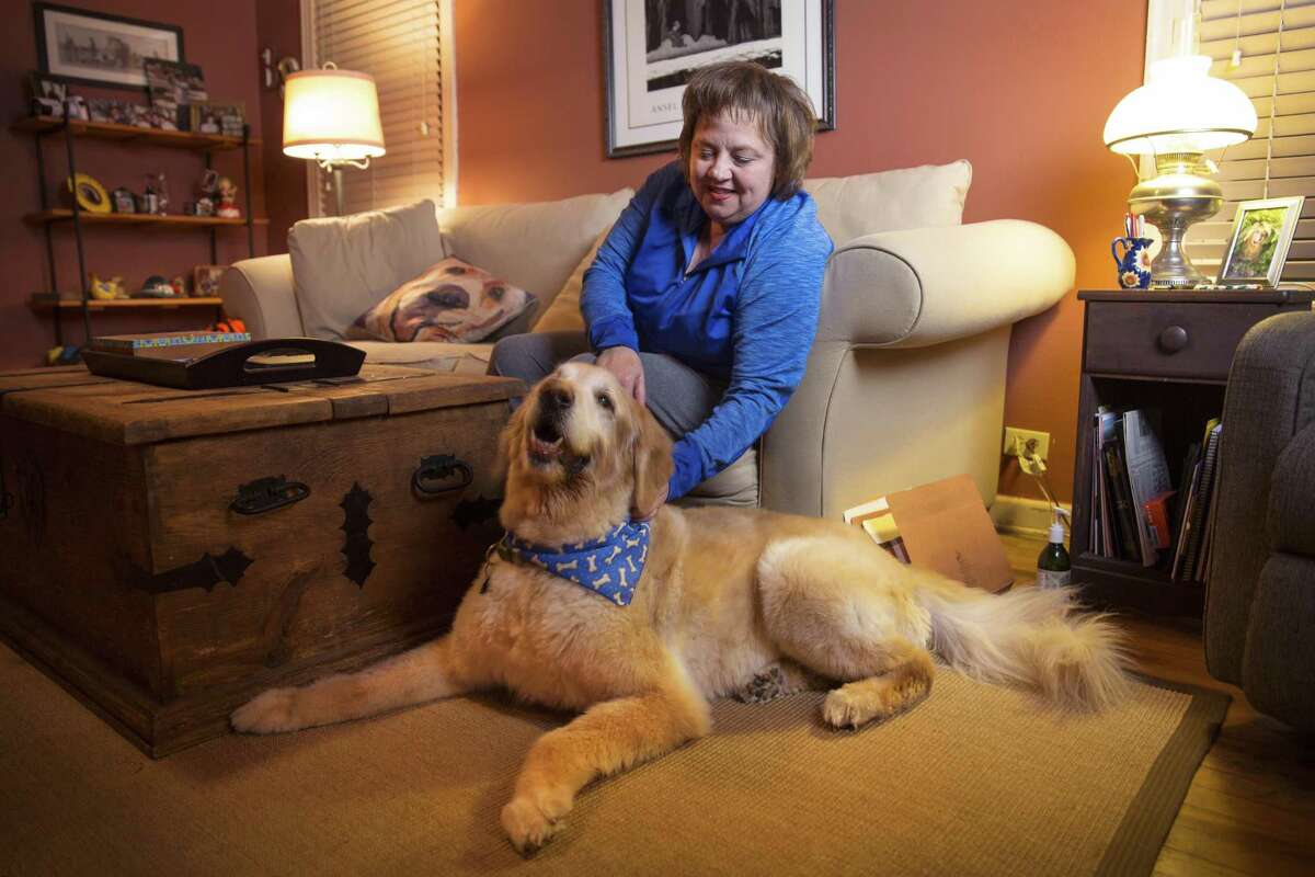 """After Dorris Mixon Smith was brutally attacked by a neighbors dog """"Bully,"""" Becky Snodgrass remembers a time when she and her dog """"Sampson,"""" 14, were also attacked by a neighbors dog Tuesday, Jan. 23, 2018, at in San Antonio. Snodgrass said she carries a knife with her when she walks Sampson, even if it's just a couple houses down. R. Tomas Gonzalez"""