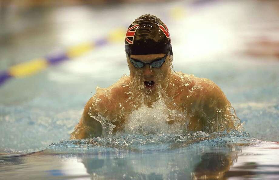 Samuel Willstrop of Churchill swims to victory in the 100-yard breaststroke during the District 26-6A swim meet at Josh Davis Natatorium on Saturday, Jan. 27, 2018. Photo: Billy Calzada, Staff / San Antonio Express-News / San Antonio Express-News