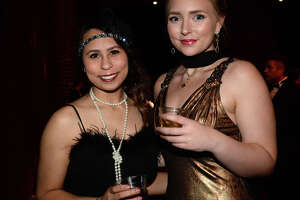 """Chelsea Reid and Hayley Harrington were at """"A Roaring La Soiree."""" The annual gala, which featured a """"roaring '20's"""" theme this year, benefits the Baptist Hospitals of Southeast Texas Foundation.  Photo taken Saturday, January 27, 2018 Kim Brent/The Enterprise"""