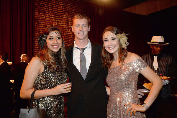 "Alyssa Hancock, Keene Wilson and Kayleigh Hancock were at ""A Roaring La Soiree."" The annual gala, which featured a ""roaring '20's"" theme this year, benefits the Baptist Hospitals of Southeast Texas Foundation. Photo taken Saturday, January 27, 2018 Kim Brent/The Enterprise"