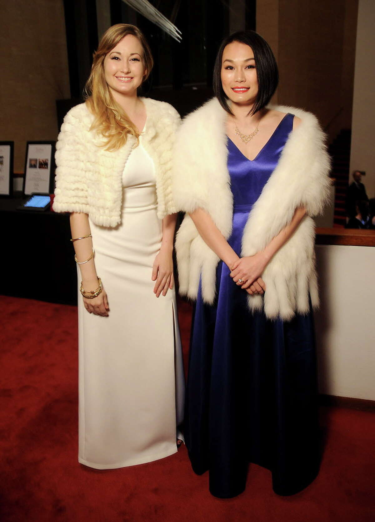 Jenna McCord and Stella Tang at the Houston Symphony Wine Dinner and Collectors Auction at Jones Hall Friday Jan. 26 ,2018. (Dave Rossman Photo)