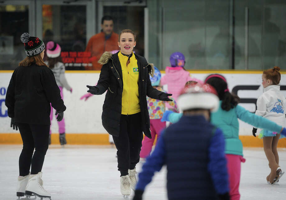 Olympic figure skater Isadora Williams leads a skating clinic for kids following her performance in the 2018 Olympic Dreams Skating Show at the Danbury Ice Arena in Danbury, Conn. on Sunday, January 28, 2018. Photo: Brian A. Pounds, Hearst Connecticut Media / Connecticut Post