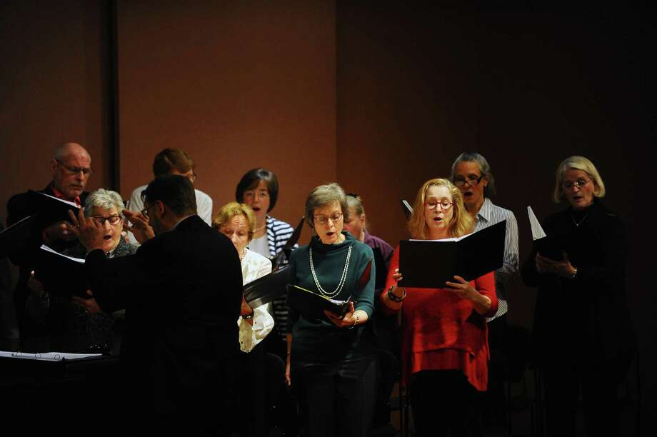 The Greenwich Choral Society perform the ABCs of music, which journey through the styles of music in different eras, during a concert hosted by the Greenwich-based Curiousity Concerts inside the Greenwich Library on West Putnam Avenue in downtown Greenwich, Conn. on Sunday, Jan. 28, 2018. Photo: Michael Cummo / Hearst Connecticut Media / Stamford Advocate