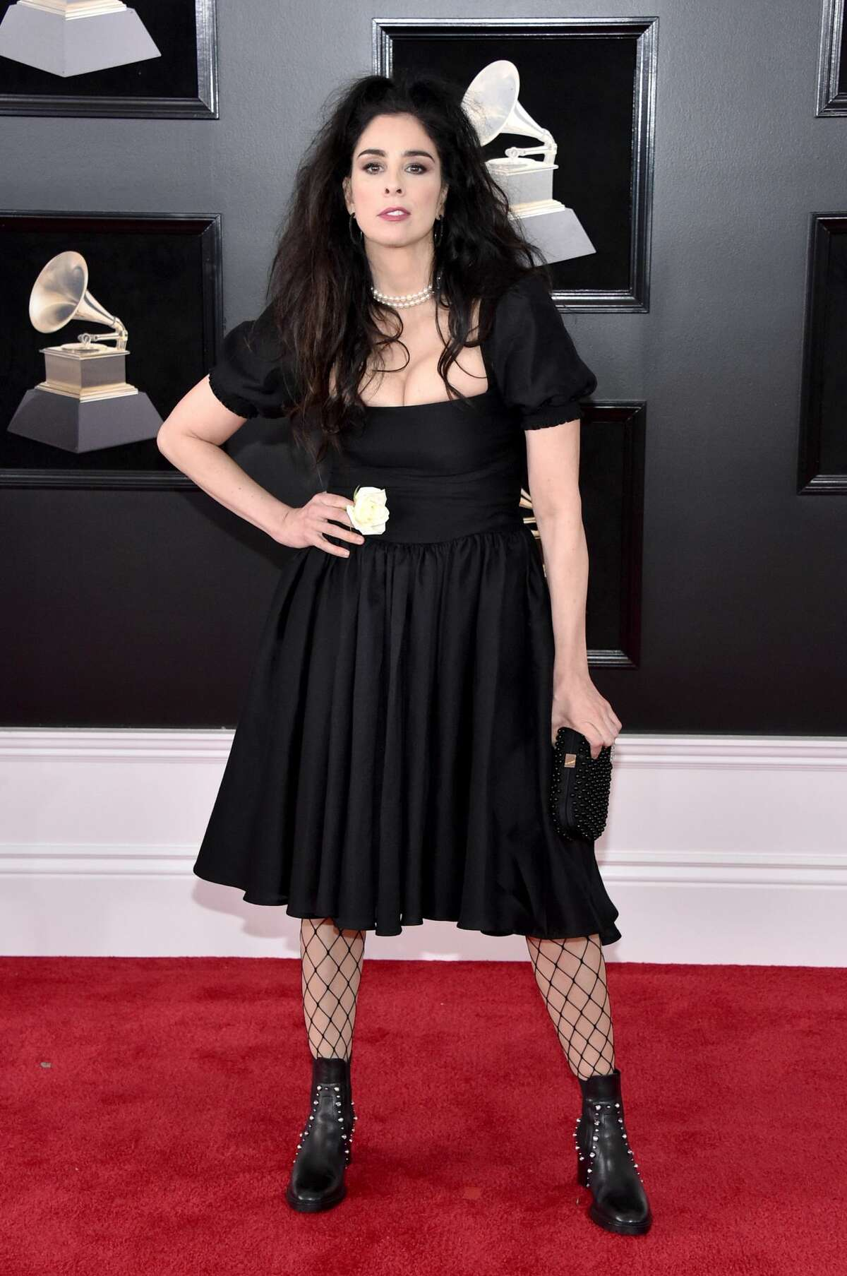 NEW YORK, NY - JANUARY 28: Comedian Sarah Silverman attends the 60th Annual GRAMMY Awards at Madison Square Garden on January 28, 2018 in New York City. (Photo by John Shearer/Getty Images)