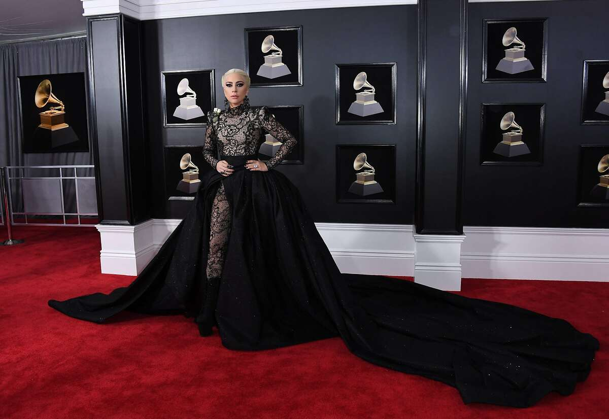 Lady Gaga arrives for the 60th Grammy Awards on January 28, 2018, in New York. / AFP PHOTO / ANGELA WEISSANGELA WEISS/AFP/Getty Images